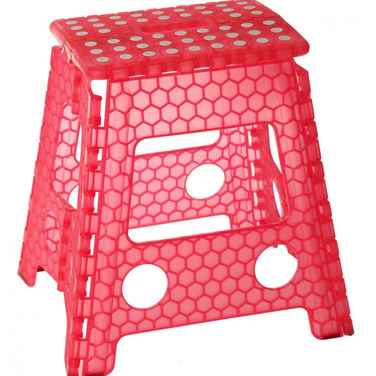 Taburete Plegable Diseño Original PVC Rojo
