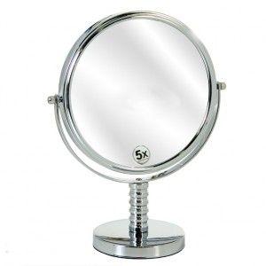 Espejo Cromado de Baño Diseño Moderno 2 caras