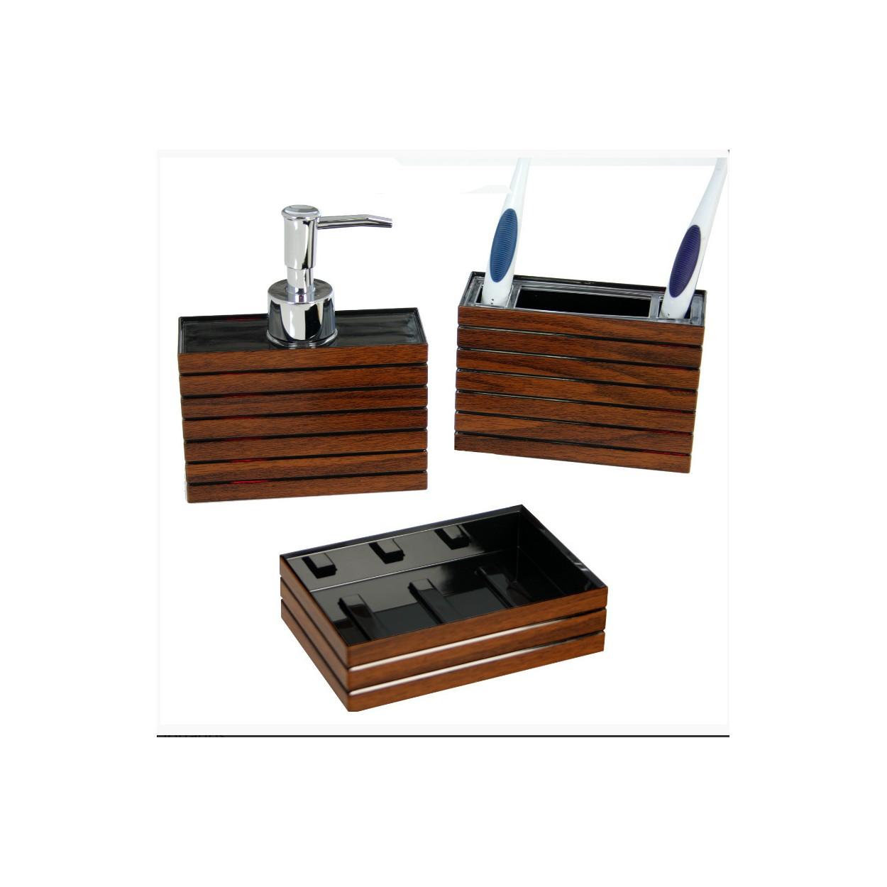 Dosificador de jab n moderno dise o madera para ba o - Dosificador jabon bano ...