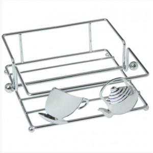 Napkin Holder Chrome Metal