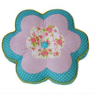 Cojín de Tela Flor de Colores Diseño Original
