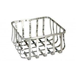 Fruit Bowl Chrome Metal Modern Design