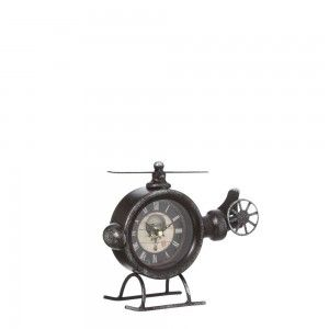 Watch Helicopter Table Vintage Design in Black Metal