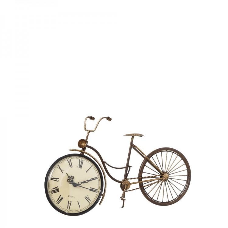 Reloj Bicicleta de Mesa Diseño Vintage en Metal Bronce