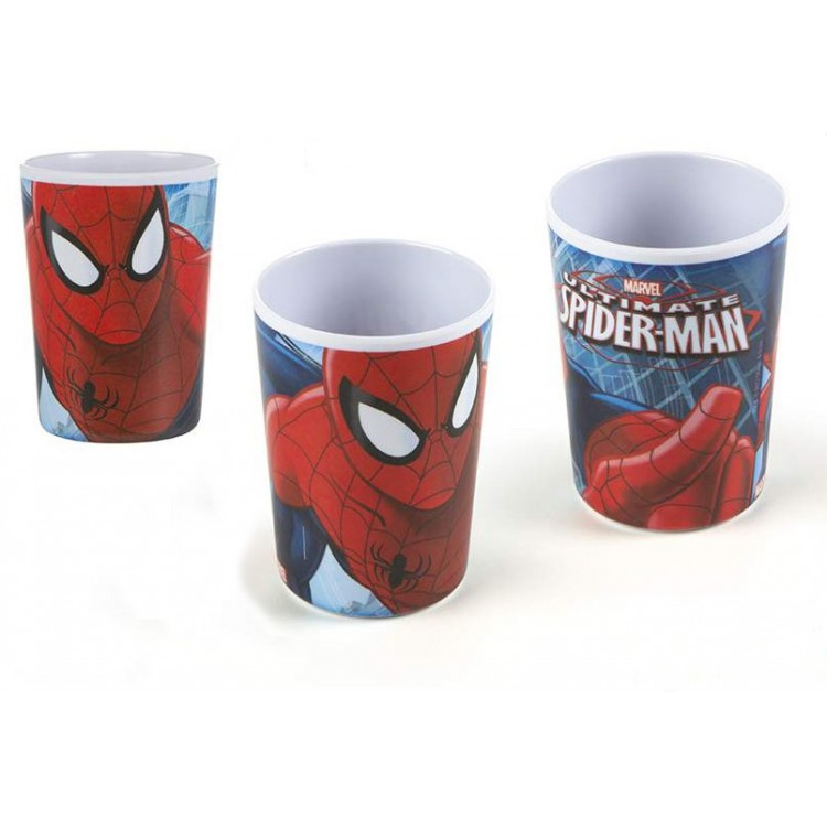 Vaso Infantil Spiderman en Melamina
