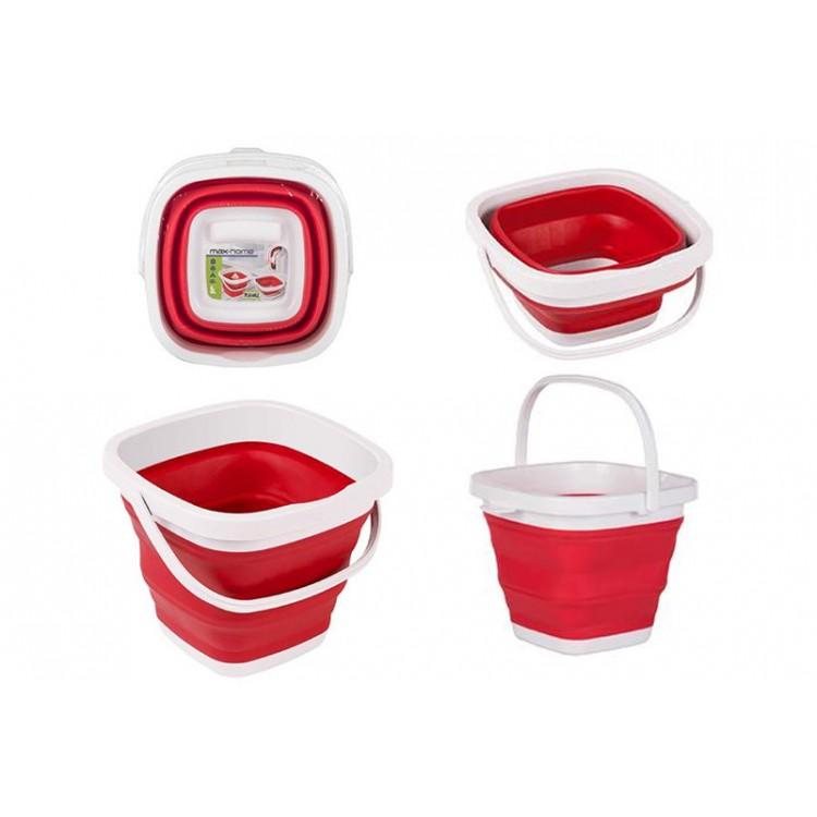 Cubo Plegable Rojo, Hogar y Mas