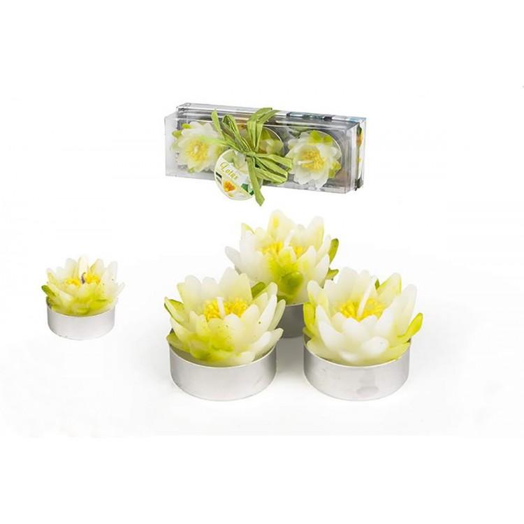 Velas Forma de Flor Tealites Original Pack 3 Unidades