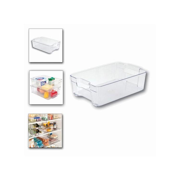 Caja almacenaje para frigor fico pvc hogar y mas hogar y m s - Cajas almacenaje decorativas ...