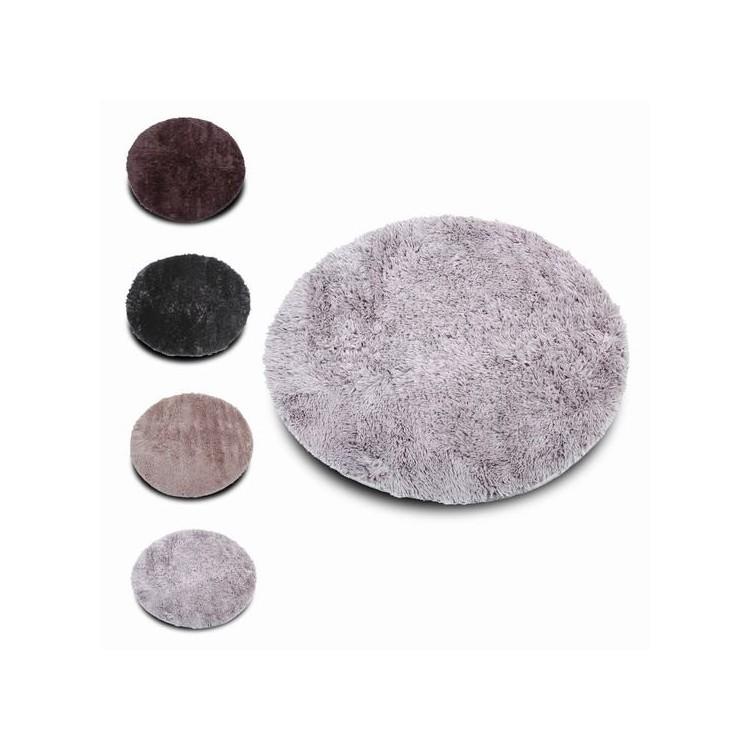 Alfombra softy redonda pelo largo extra suave original for Alfombra redonda gris