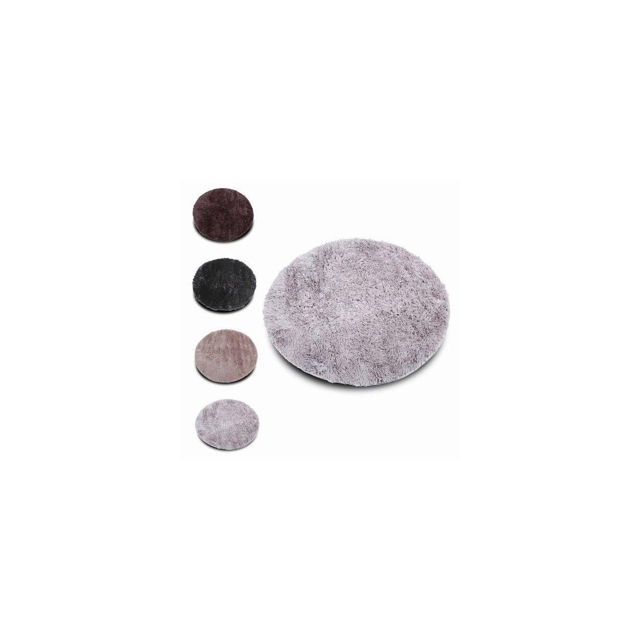 Alfombra redonda pelo largo extra suave original hogar y for Alfombra redonda gris