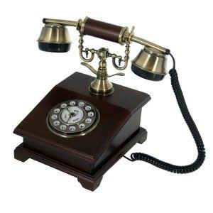 Phone Old Wooden Vintage Design