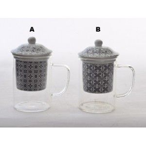 Cup Infusions Porcelain and Crystal, Ethnic Design 2 Models