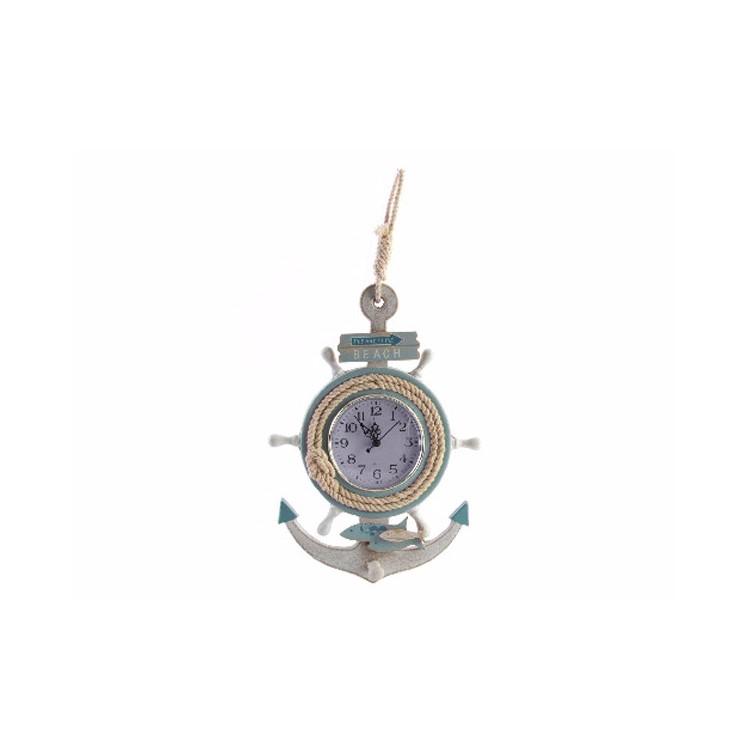 Reloj de Pared Madera Natural Barlovento Hogar y Más