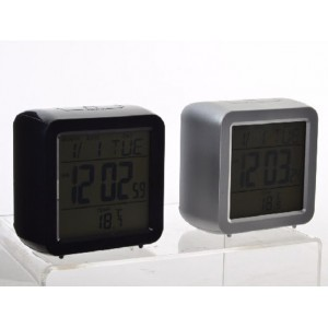 Reloj Despertador Digital Moderno Luz Led 2 Colores