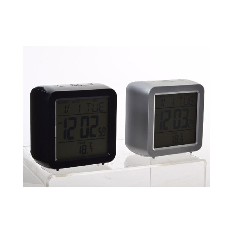 Reloj Despertador Digital Moderno Luz Led 2 Colores