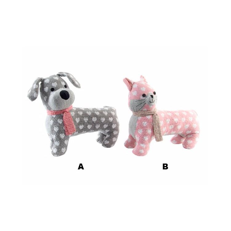 Sujetapuertas Original Perro y Gato en Textil 2 Modelos