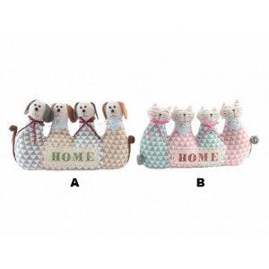 Sujetapuertas Original Perros y Gatos en Textil 2 Modelos
