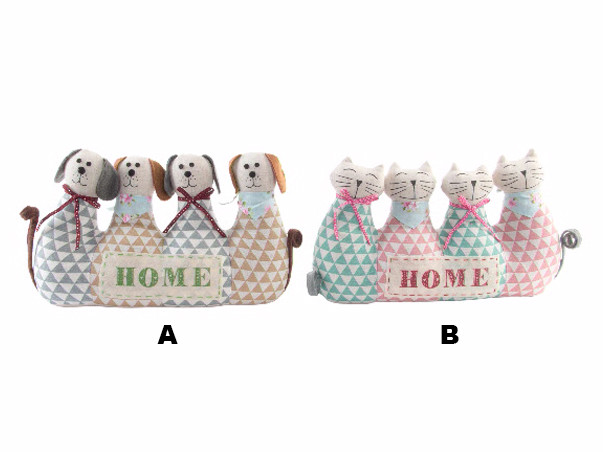 Sujetapuertas Original Dogs and Cats in Textile 2 Models