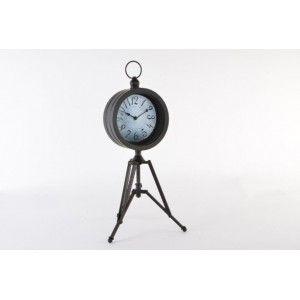 Reloj de Pie Estilo Industrial Metal Negro