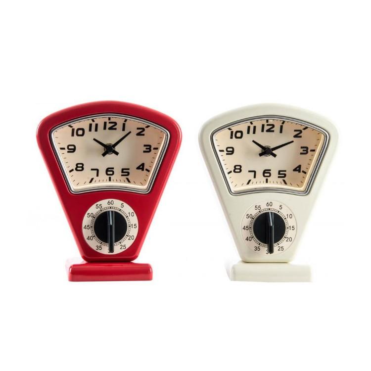 Reloj de Mesa Temporizador Diseño Original Metal 2 Colores