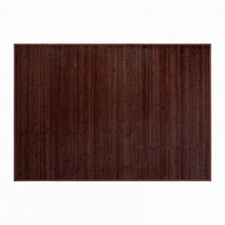 ALFOMBRA DE BAMBU PARA SALON - COMEDOR, NATURAL KANDA, ANTIDESLIZANTE, EN COLOR CHOCOLATE, 140 X 200 CM.