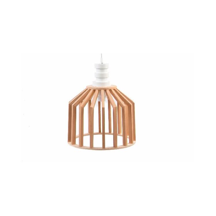 Hogar y más - Lámpara de Techo de estilo nórdico. Madera Natural con Diseño Moderno