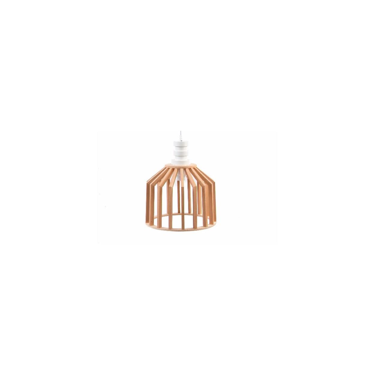 Hogar y m s l mpara de techo de estilo n rdico madera for Lamparas techo diseno