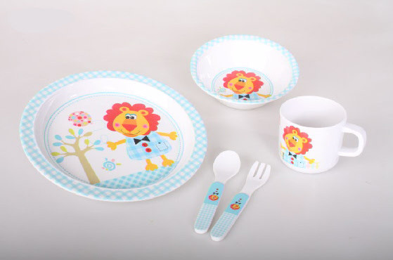 Breakfast set Children's Melamine Design Lion Cute