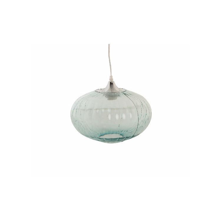 Lámpara de Techo Colgante Ovalada Cristal Transparente Diseño Vintage