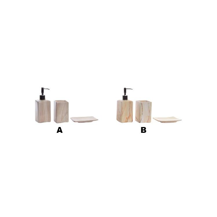 Accesorios de Baño Cerámica Dolomita Natural Diseño Mármol