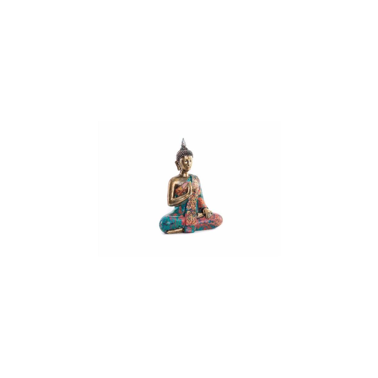 Figura resina de buda original zen multicolor hogar y mas hogar y m s - Figuras buda decoracion ...
