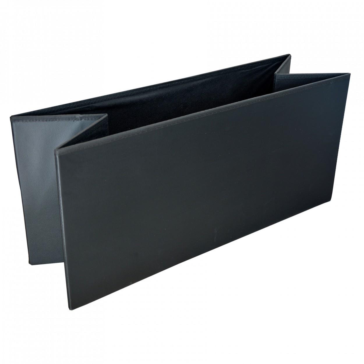 Dise/ño Original//Elegante 76x38x35cm.-Hogarymas Puff Negro Plegable para Almacenaje