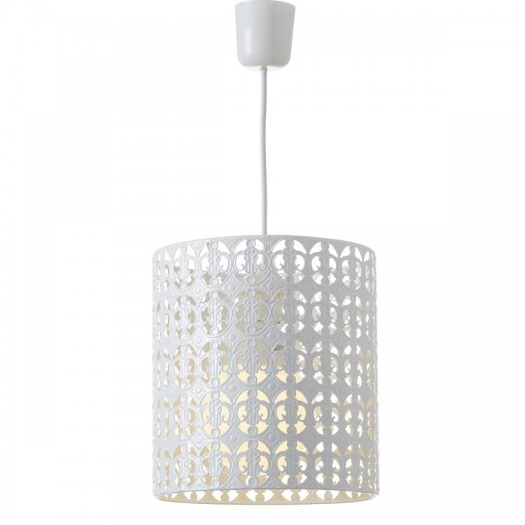 Lámpara de Techo Metal Blanco Diseño Étnico