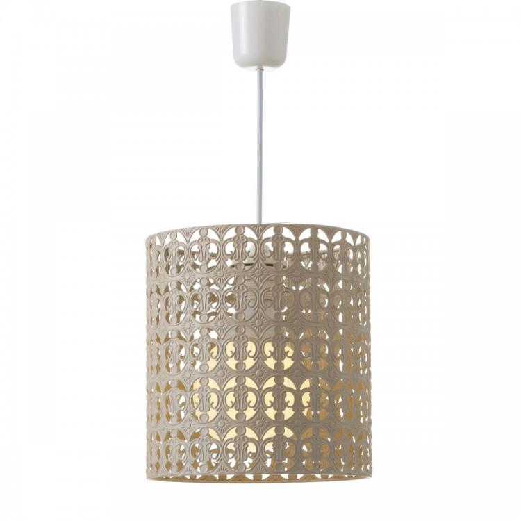 Lámpara de Techo Metal Beige Diseño Étnico