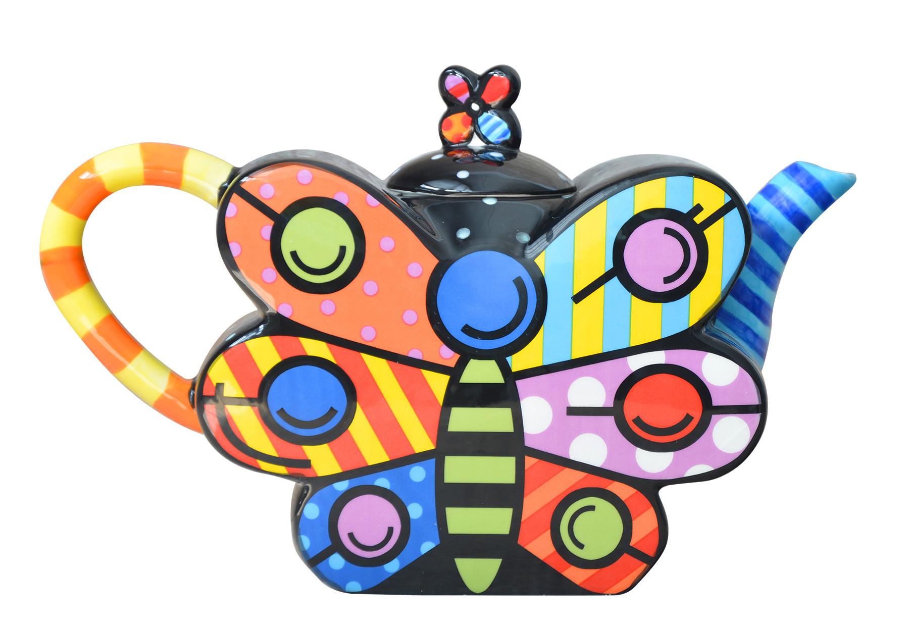 Tetera original de Cerámica con forma de Mariposa