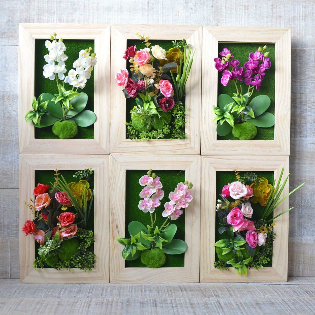 Jard n vertical pared plantas artificiales hogar y m s for Plantas artificiales jardin vertical