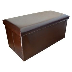 Puff Trunk Foldable Collar for Storage Original Design Elegant Brown