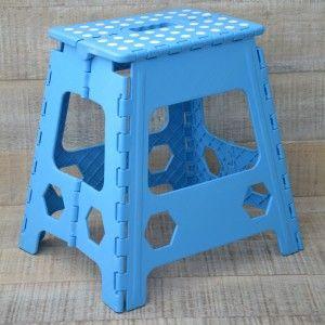 Taburete Plegable Robusto en PVC Azul