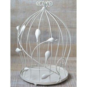 Cages Decorative Fantasy Ivory Color Metal Ethnic Design 2 Units