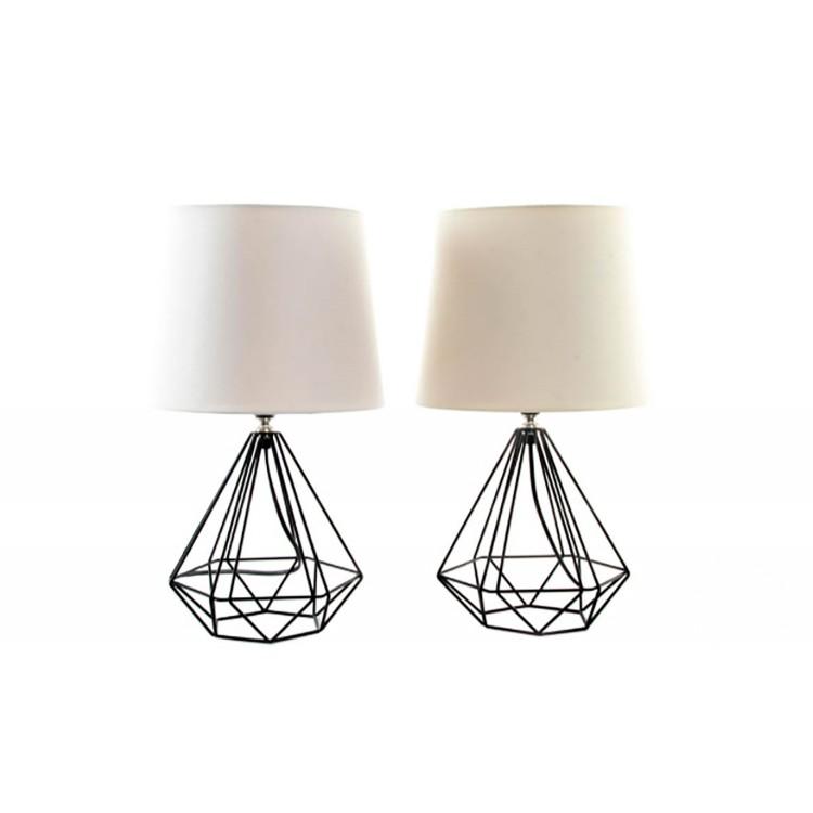 Lámpara de Mesa en Metal Diseño Moderno Industrial Dos Colores Hogar y Más