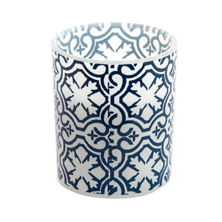 Vela Aromática en Vaso de Cristal Diseño Étnico 3 Unidades Hogar y Más