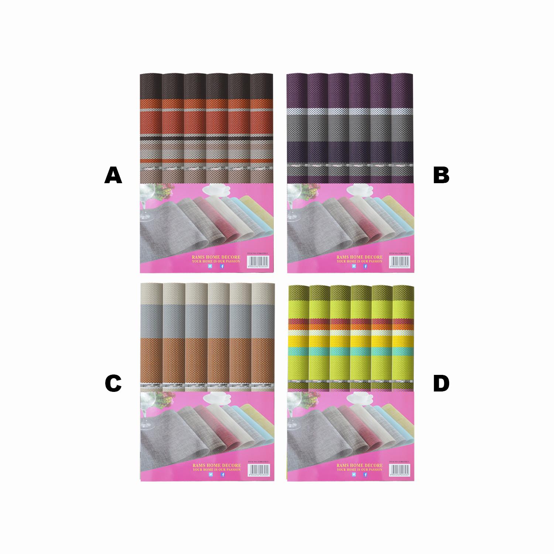 Salvamantel de Vinilo Mantel Individual Diseño Multicolor Seis Unidades Hogar y Más
