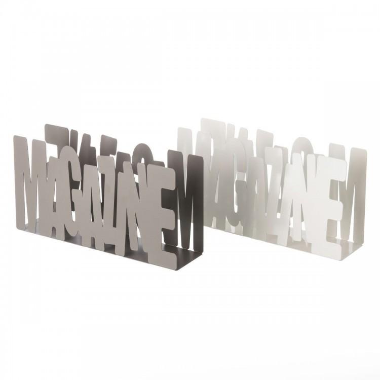 Revistero de Suelo de Metal Diseño Moderno Magazine Dos Colores Hogar y Más