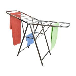 Drying rack Stainless Steel base and Folding Wings Adjustable Home and More