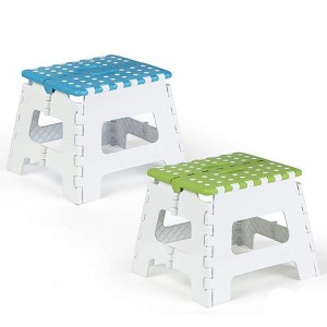 Folding stool PVC non-Slip Two Colours, Home and More