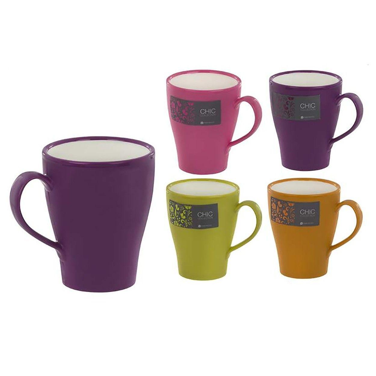Taza mug para caf de cuatro colores dise o chic hogar y m s hogar y m s - Tazas de cafe de diseno ...