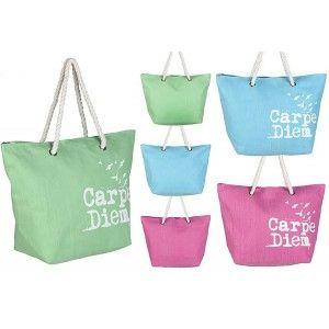 Beach bag Three-Color Design Carpe Diem Home and More