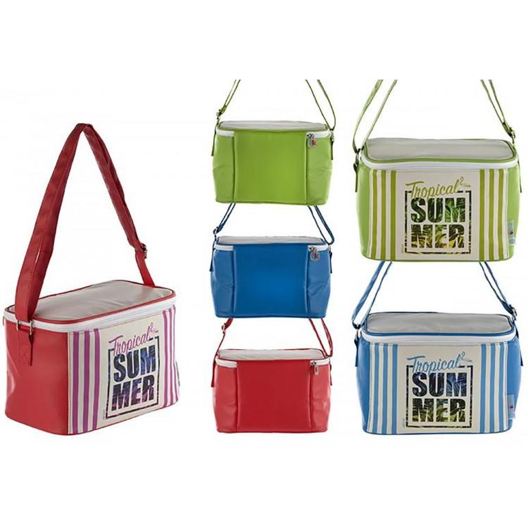 Bolsa Térmica de Playa con Asa y Cremallera de Tres Colores Summer Hogar y Más