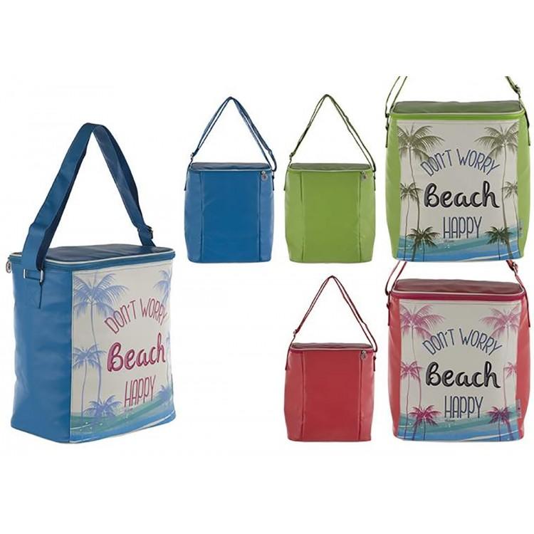 Bolsa Térmica de Playa con Asa y Cremallera Grande Tres Colores Hogar y Más