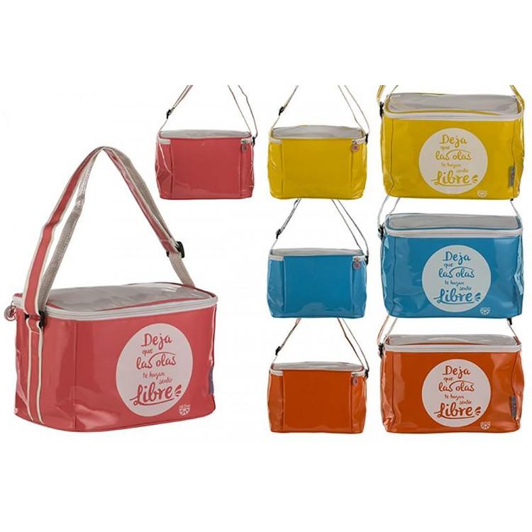 Bolsa Nevera de Playa con Asa y Cremallera Cuatro Colores Hogar y Más